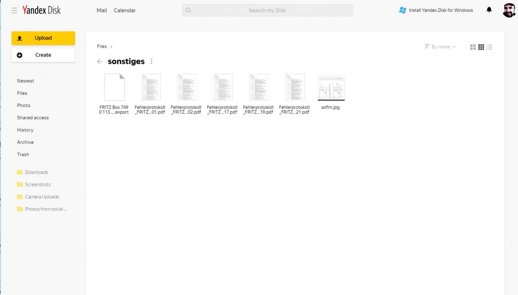 Keine Wolke aus Russland - Yandex.Disk fehlt im c't-Test der Cloud-Speicher-Dienste 2